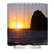 Sailboat In The Sunset Cabo San Lucas Mexico Shower Curtain