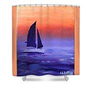 Sailboat Large 2015 Shower Curtain