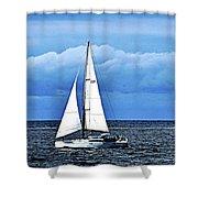 Sailboat No. 143-1 Shower Curtain