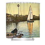 Sailboat On Arrival Shower Curtain