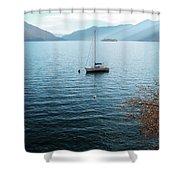Sailboat On Lake Maggiore Shower Curtain