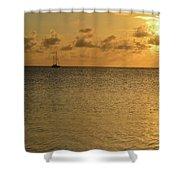 Sailboat On The Horizon 3 Shower Curtain