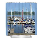 Sailboat Reflections Shower Curtain