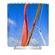 Sailboat Rigging Shower Curtain