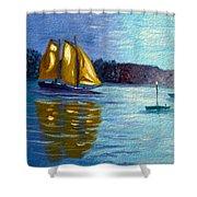 Sailboat-  Sailing- Come Sail Away Shower Curtain
