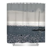 Sailboat Silhouette Shower Curtain