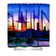 Sailboats At Rest Shower Curtain