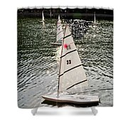 Sailboats In Central Park Shower Curtain