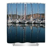 Sailboats Reflected Shower Curtain