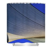 Sailcloth Abstract Times Two Shower Curtain