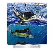 Sailfish In Costa Rica Shower Curtain