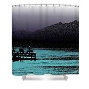 Sailin The Sound 2 Shower Curtain