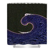 Sailin The Wave Shower Curtain
