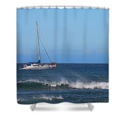 Sailing And Sunshine Shower Curtain