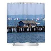 Sailing At Penn Cove Shower Curtain