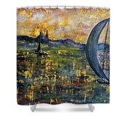 Sailing Away Shower Curtain