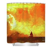 Sailing Away From The Sun Shower Curtain