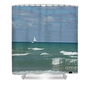 Sailing Away On The Lake Shower Curtain