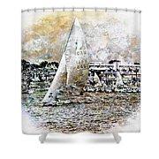 Sailing Boat, Nautical,yachts, Seascape Shower Curtain