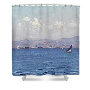 Sailing Boats In  Landscape Shower Curtain
