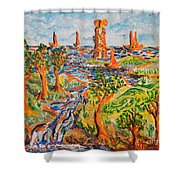 Sailing Boats Shower Curtain