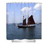 Sailing Boston Shower Curtain