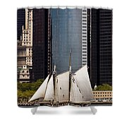 Sailing By Downtown Shower Curtain