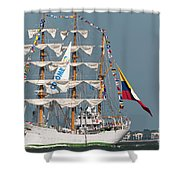 Sailing By The Battery Shower Curtain