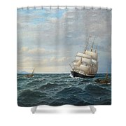 Sailing By The Coas Shower Curtain