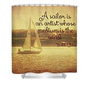Sailing Chiles Shower Curtain