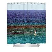 Sailing Day Shower Curtain by Karen Zuk Rosenblatt