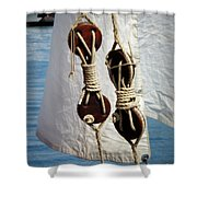 Sailing Dories 2 Shower Curtain