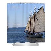 Sailing Downeast Shower Curtain