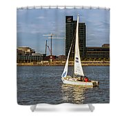 Sailing Downtown Shower Curtain