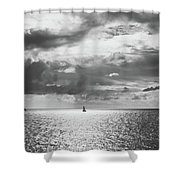 Sailing Dreams Black And White Shower Curtain