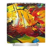 Sailing Impression 01 Shower Curtain