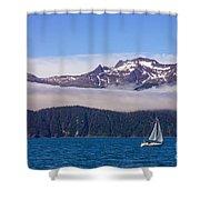 Sailing In Alaska Shower Curtain