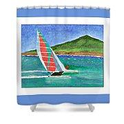 Sailing In Hawaii Shower Curtain