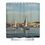 Sailing In Lisbon Portugal Shower Curtain