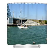 Sailing In Port Canaveral Florida Shower Curtain
