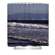 Sailing In Santa Monica Shower Curtain
