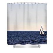 Sailing In Santa Monica II Shower Curtain