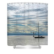 Sailing In Seattle Shower Curtain