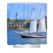 Sailing In St. Augustine Shower Curtain