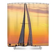 Sailing In Shower Curtain