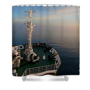 Sailing Into The Unknown... Shower Curtain