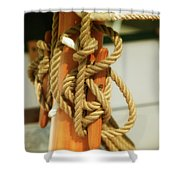 Sailing Knot Shower Curtain