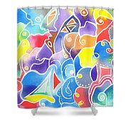 Sailing Maze Shower Curtain
