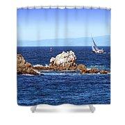 Sailing Monterey Bay Shower Curtain