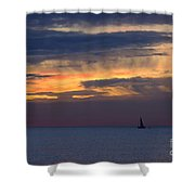 Sailing On A Paint Brush Shower Curtain